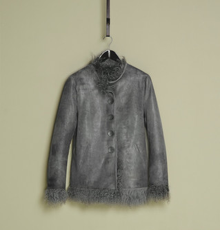 Reversible tibet lamb jacket