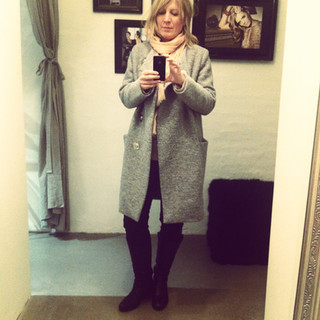 Wool coat selfie