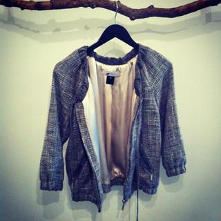 Wool & suede trim jacket