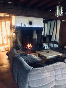 LA LA LANDES salon cheminée
