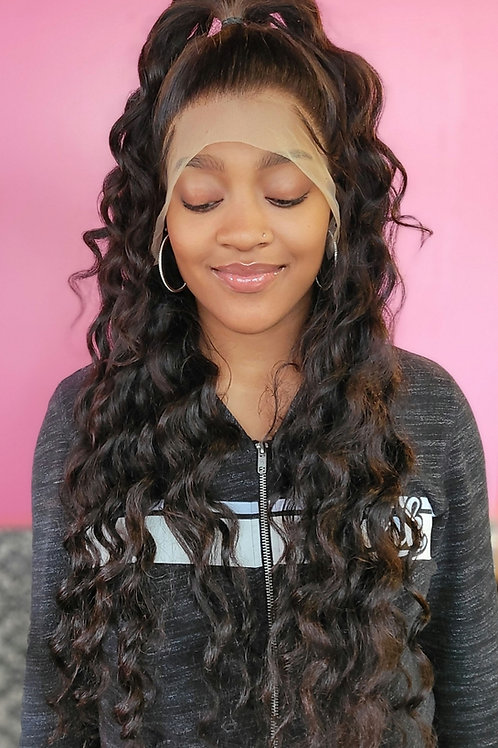"""26"""" 13x4 Frontal Wig w/ Beach Curls"""