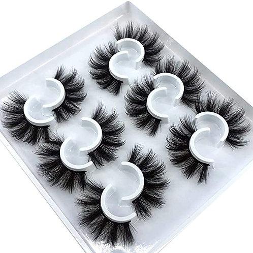 6 Pairs Fluffy False Eyelashes Natural Faux Mink Strip 3D Lashes
