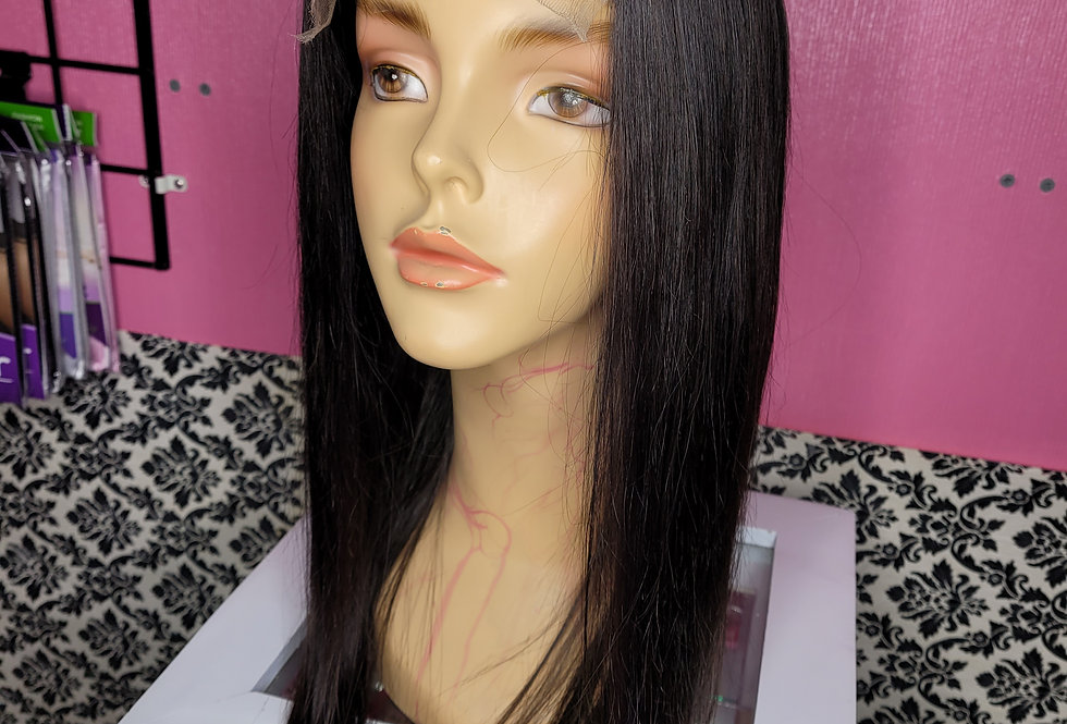 "22 "" 180% Density Straight 4x4 Lace Closure Wig"