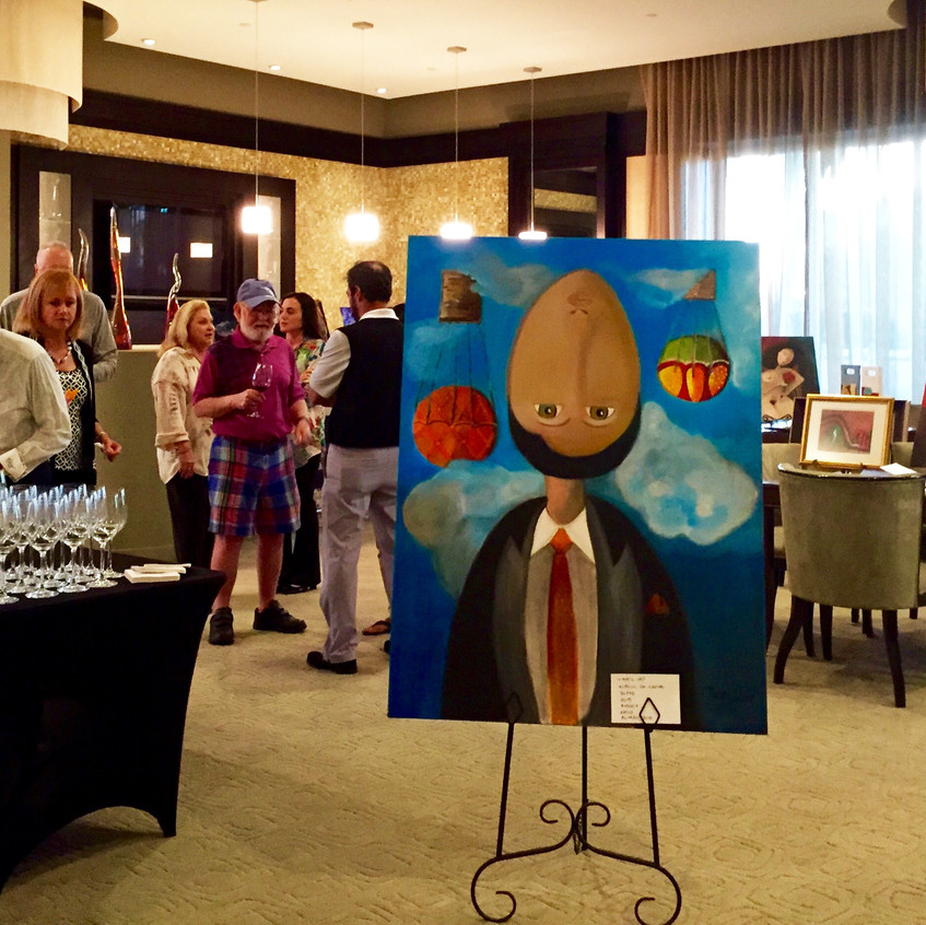 Painting sold to the Muzzo family.   Percentage of Proceeds went to A Place of Hope
