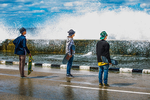 Skaters at the Malecon Havana