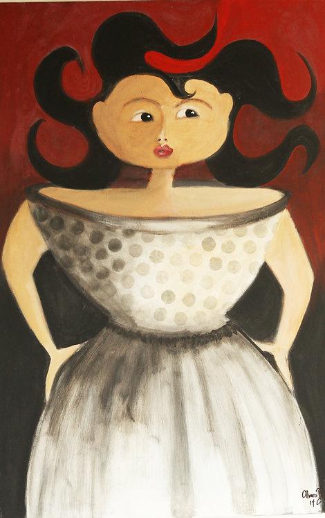 Woman in Polka Dots