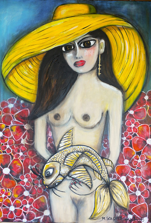 GIRL WITH GOLDEN FISH