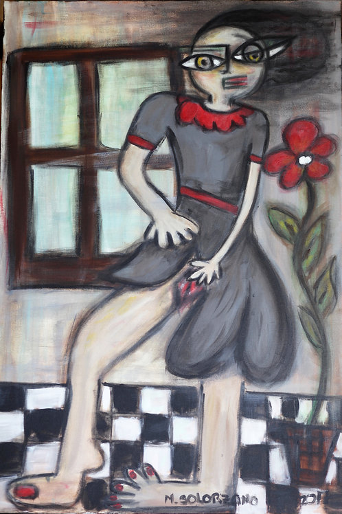 Untitled-(woman lifting dress)