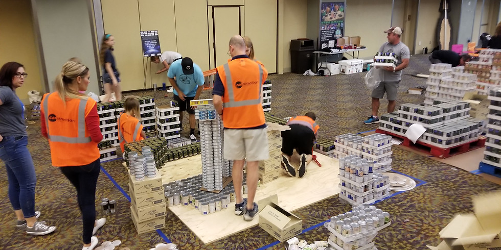 Canstruction 2019 Build Day!