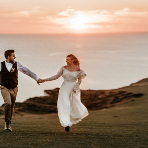 Sussex Cliffs and Beach Elopement