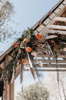 pampers grass wedding flowers at kent wedding venue