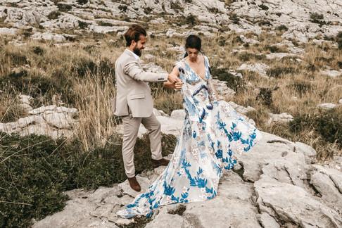 Rue de seine bride, mountain elopement