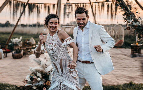 bride in rue de seine dress