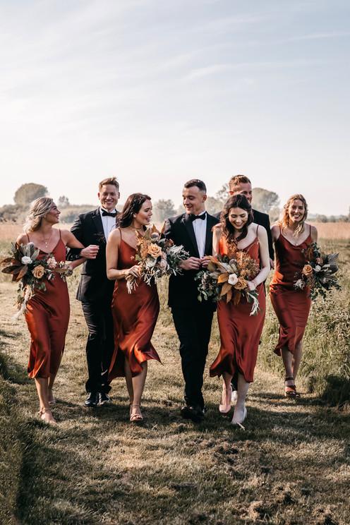 boho style bridal party