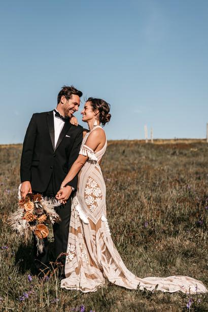 Bride and groom at wilderness weddings venue in Kent