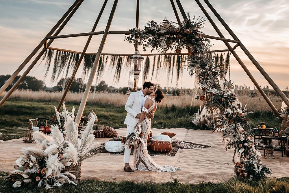naked tipi at wilderness weddings venue