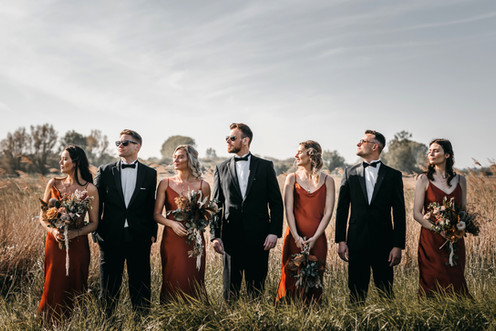 bridal party group photo at wilderness weddings