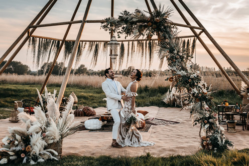 naked tipi at wilderness weddings venue in kent