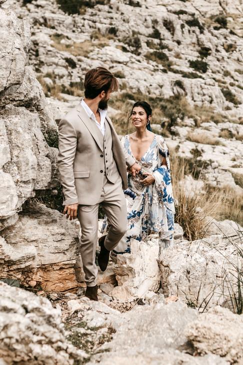 mountain elopement in Majorca