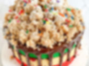 RAINBOW COOKIE CRUMB CAKE 🌈✨ this beaut
