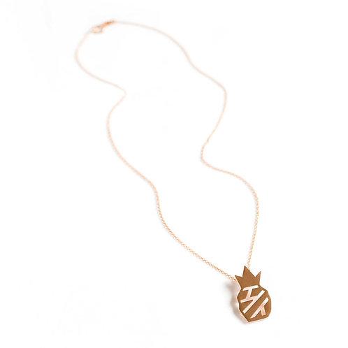 Pineapple Pendant, Rose Gold Vermeil