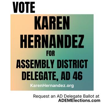 Vote Karen for AD 46 Delegate