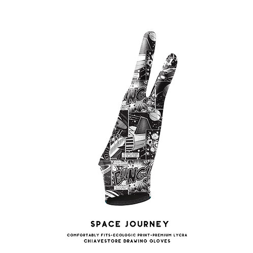 Space Journey Art Glove l Digital Artist Glove l Drawing Glove l Wacom Glove