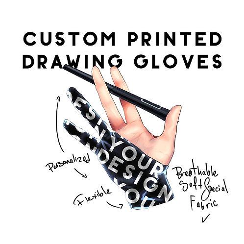 Custom Printed Art Glove Personalized Drawing Glove Wacom Glove