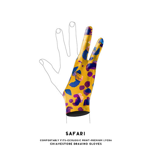 Safari Print Art Glove l Digital Artist Glove l Drawing Glove l Wacom Glove