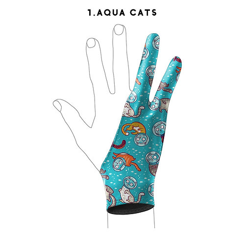 Digital Artist Glove l Fairytale Prints l Kids-Adult Fits l Artist Gift l Tablet