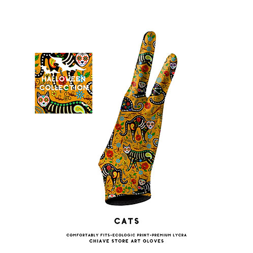 Cats Art Glove l Digital Artist Glove l Drawing Glove l Wacom Glove