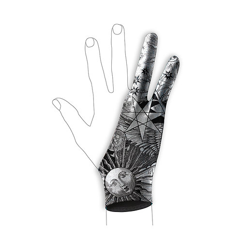 Solar Luna Art Glove l Digital Artist Glove l Drawing Glove l Wacom Glove