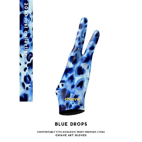 Blue Drops Art Glove l Digital Artist Glove l Drawing Glove l Wacom Glove