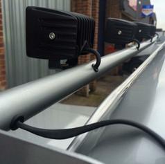 Lightbar wiring install with hidden wiring