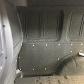Vw Caddy rear carpet lined