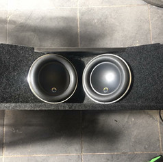 Bmw E46 cab twin JL Audio 8w7 sub box