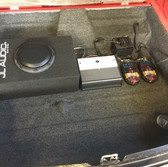 MGB GT rear boot carpet and audio install