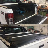 Ford Range rear cover and roof bars fitted