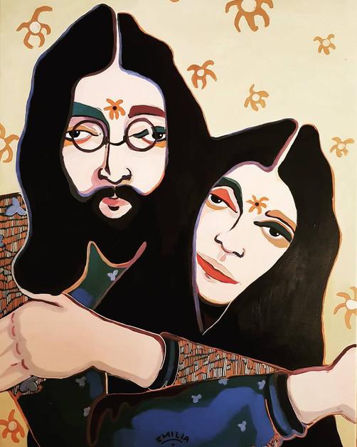 John Lennon & Yoko Ono. (Sun)Flower Power.
