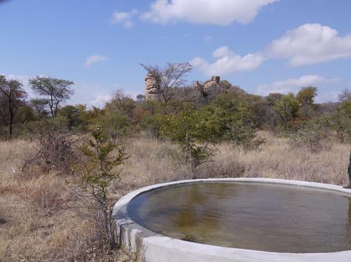 A repaired waterhole