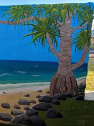 Beach Mural Pandanus