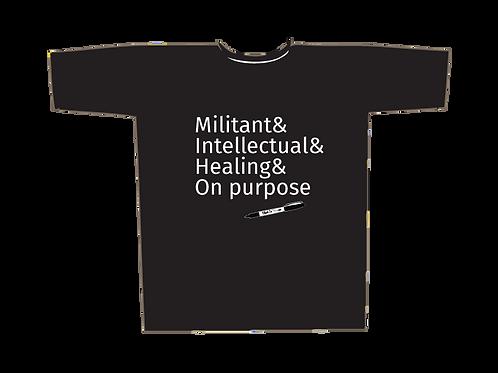 Militant Black Tee