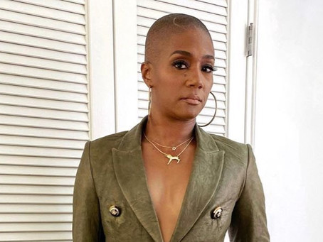 'WORKING MY A** OFF!' Tiffany Haddish shows off shaved head and weight loss...