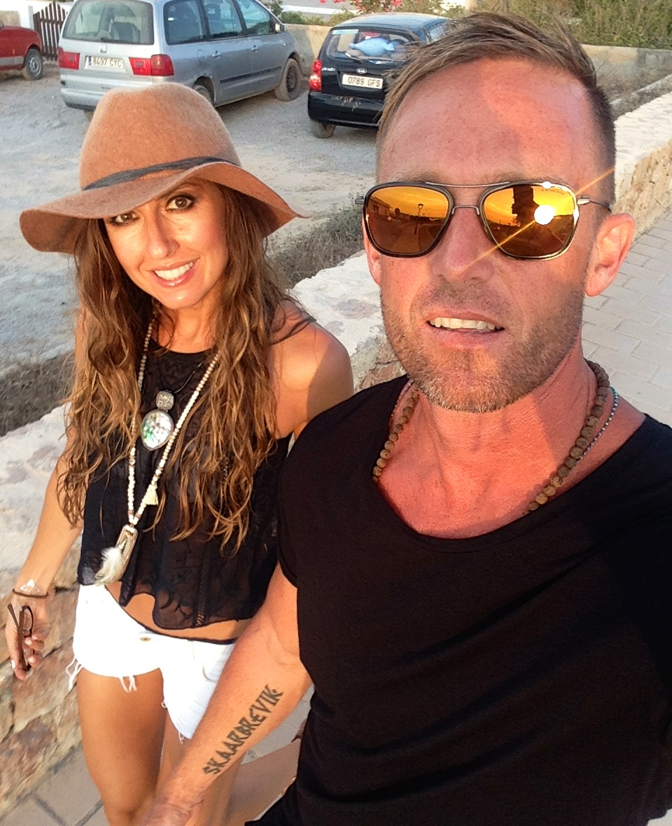 Enjoying  life in Ibiza Spain with K