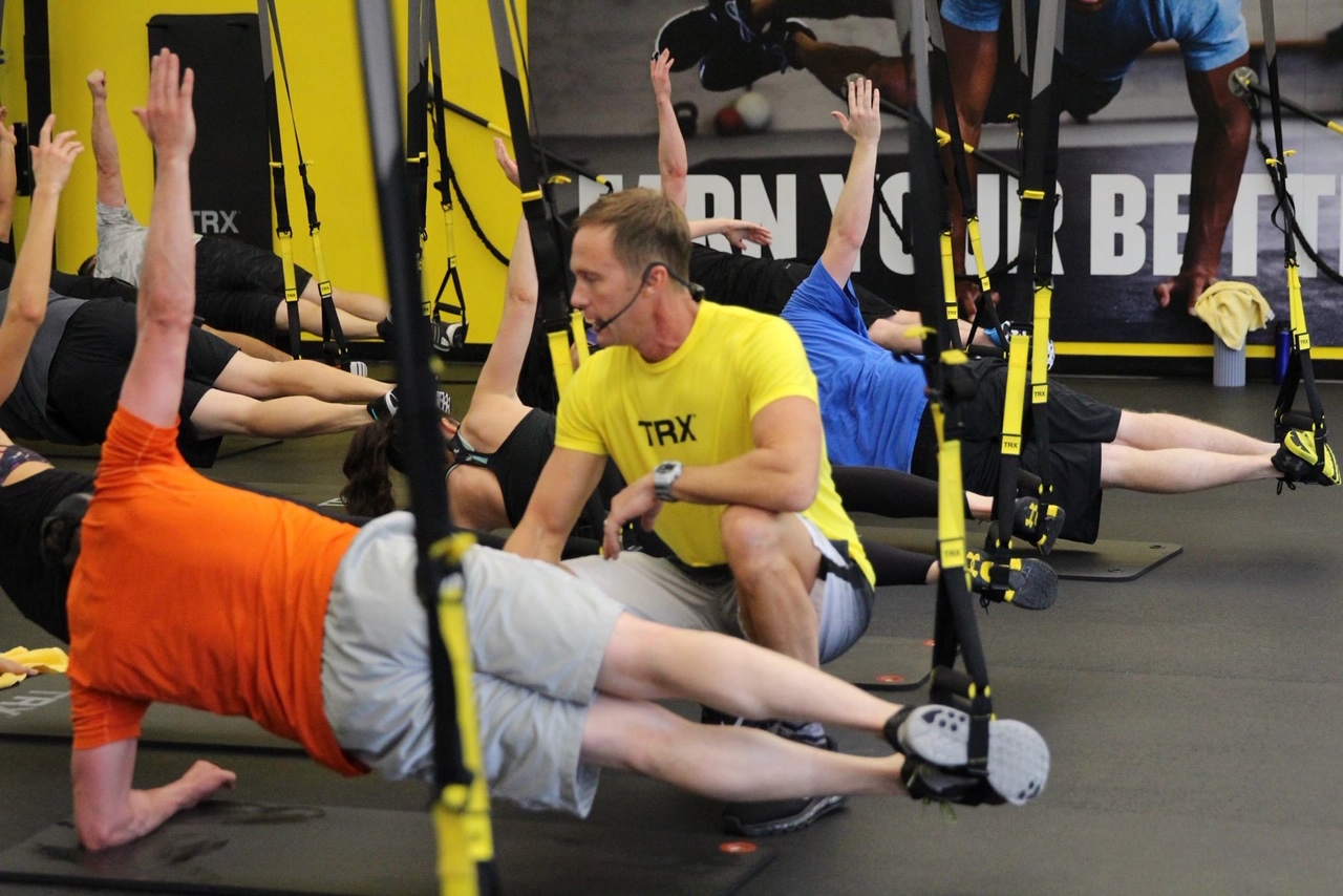 TRX instruction at the TRX Training Center in SF, Ca.