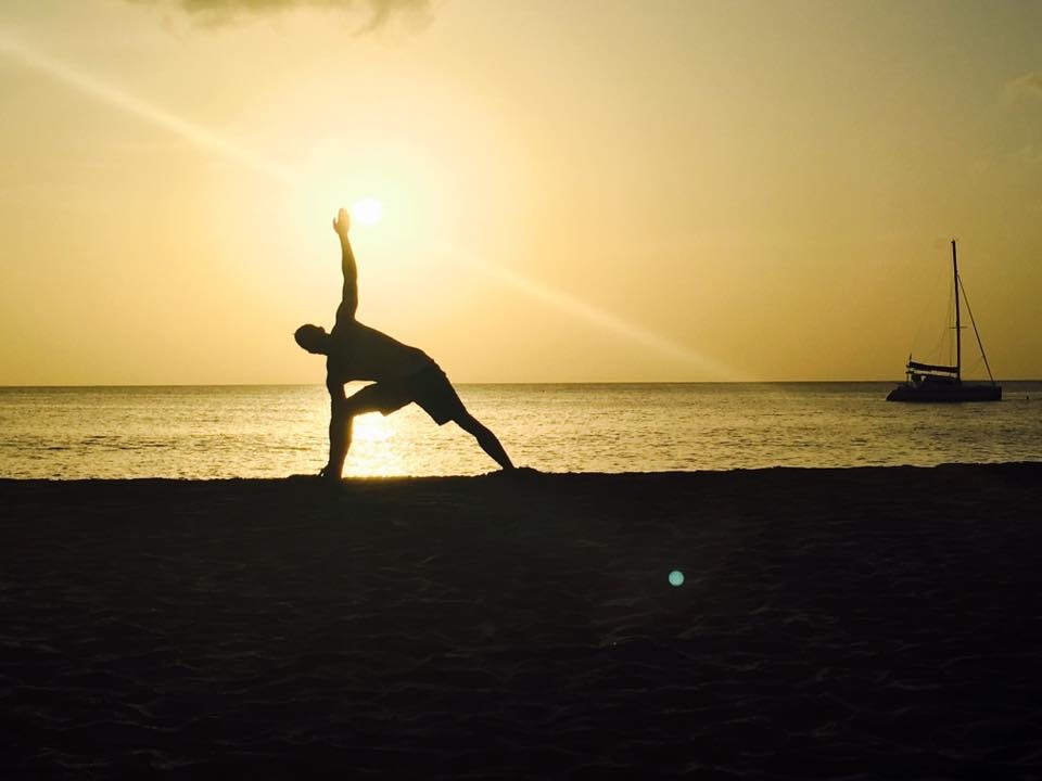 Stretching on St. Lucia Island