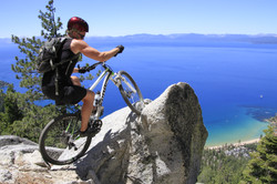 Messing around on the Flume trail, Lake Tahoe