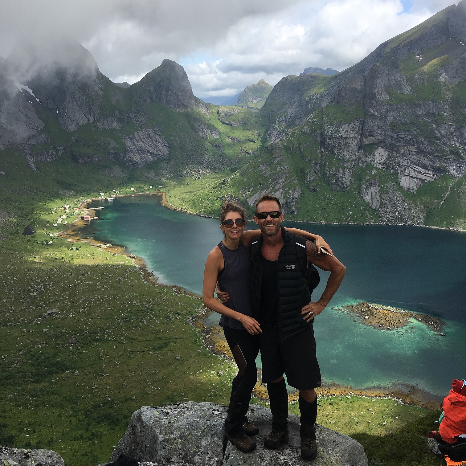 Hiking in Lofoten, Norway