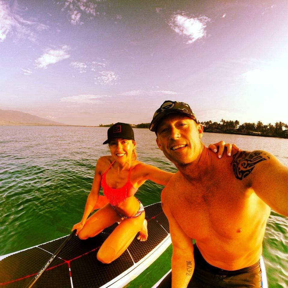 Paddle boarding on Maui HI.
