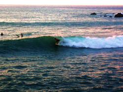 Surfing at Beach 69, Big Island HI.